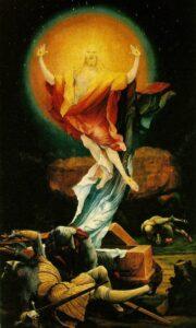Resurrection of Christ from Grunewald's Eisenheim Altarpiece