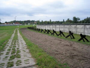 east-west German border fortifications photo