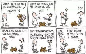Abraham & Isaac cartoon