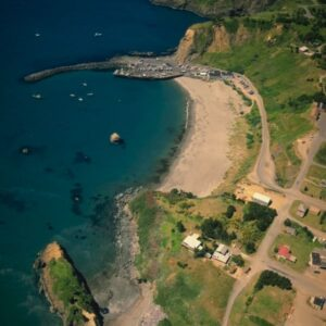 aerial photo of Port Orford, OR
