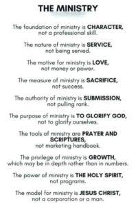 meme defining Christian ministry